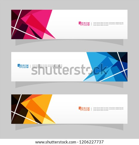 Vector abstract banner design web template. Modern vector design #1206227737