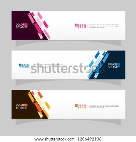 Vector abstract banner design web template. Modern vector design #1206492106