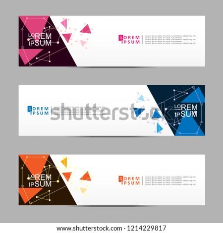 Vector abstract banner design web template. Modern vector design #1214229817