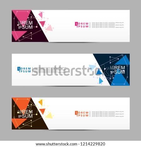 Vector abstract banner design web template. Modern vector design #1214229820