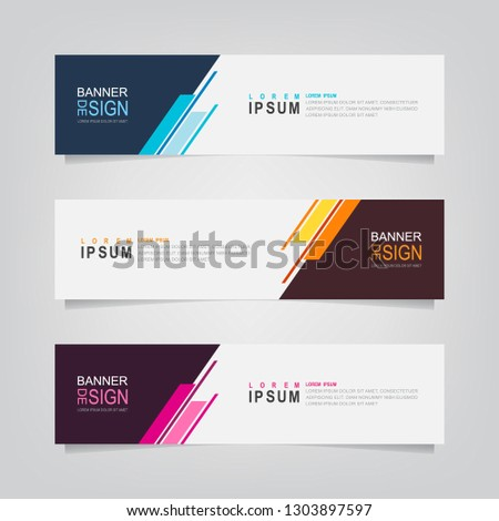 Vector abstract banner design web template. Modern vector design illustration #1303897597