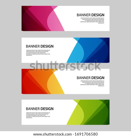 Vector Abstract banner web template stock photo