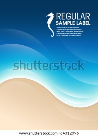 Vector Abstract Beach