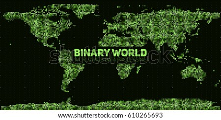 vector abstract binary world