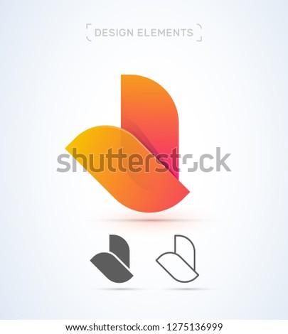 vector abstract bird wings