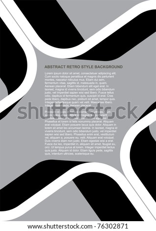 Vector Abstract Black and White Retro Style Background