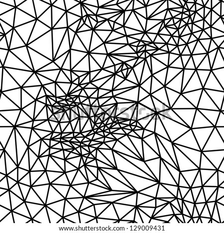 Vector abstract black and white seamless background from  triangles.