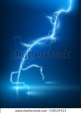 vector abstract blue lightning