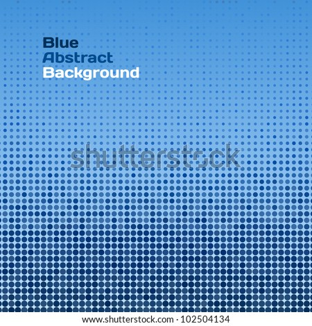 Vector abstract blue raster background (pattern background, dotted background, vector halftone dots for backgrounds)