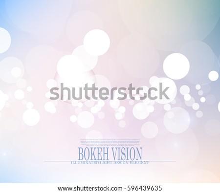 vector abstract bokeh vision