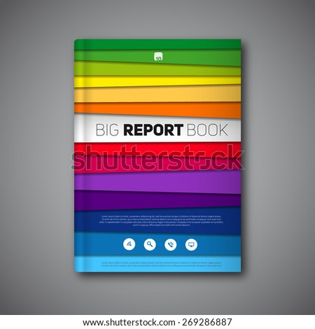 vector abstract book or