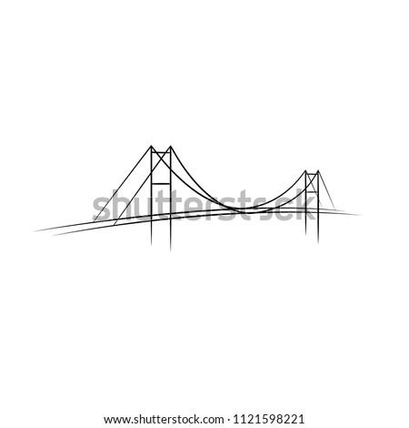 Vector abstract bridge