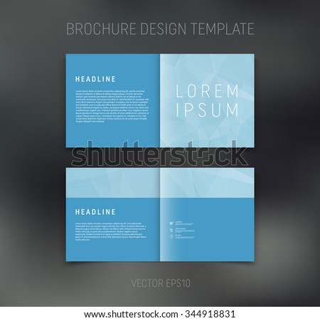 two page brochure template - vector abstract brochure design template two page spreads
