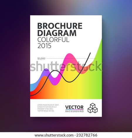 Vector abstract brochure with colorful diagram / book / flyer design template