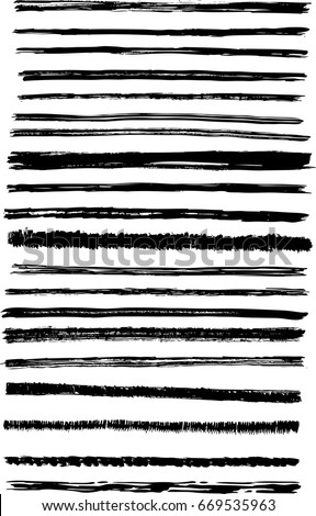 Vector abstract brush stroke texture background