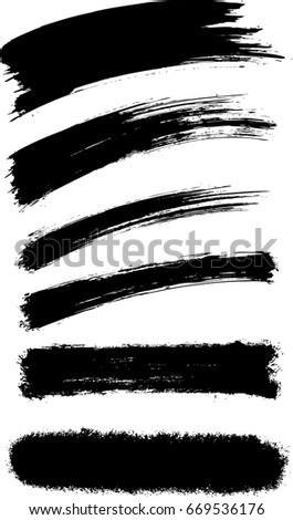 Vector abstract brush stroke texture background #669536176