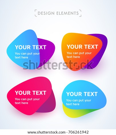 vector abstract bubble set