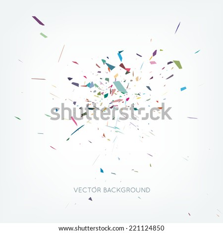 Vector abstract burst background