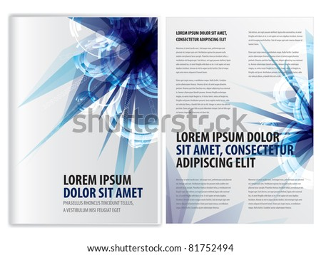 vector abstract business brochure (booklet) template, eps10 vector