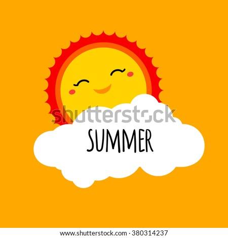 vector abstract cartoon summer
