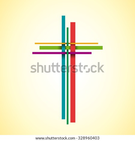 Vector abstract Christ crucifix; three crosses