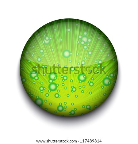Vector abstract circle app icon on white background. Eps10 - stock vector