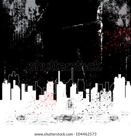 vector abstract city and grunge background