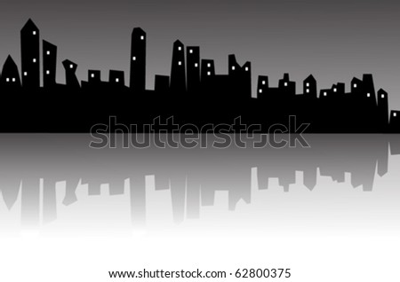 vector abstract city in the