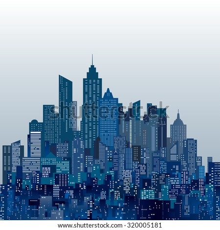 vector abstract city skylines