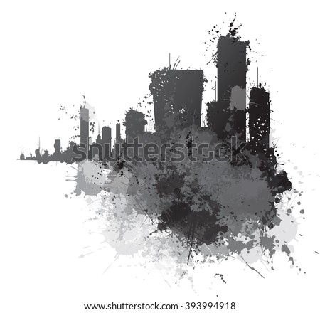 vector abstract cityscape