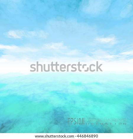 vector abstract cloud and ocean