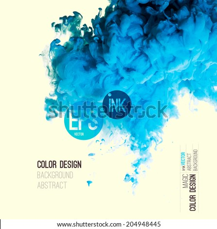 vector abstract cloud blue ink