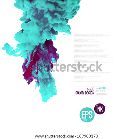 vector abstract cloud ink