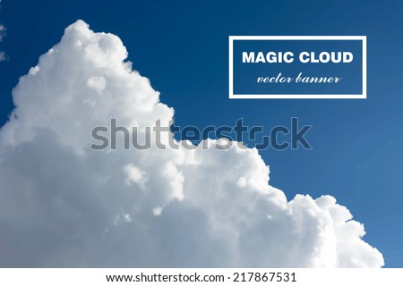 5a54ad76d07 Vector abstract cloud. Realistic photographic colourful cloudscape. White  cloud in sky isolated on blue