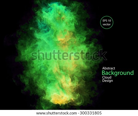 vector abstract cloud smoke