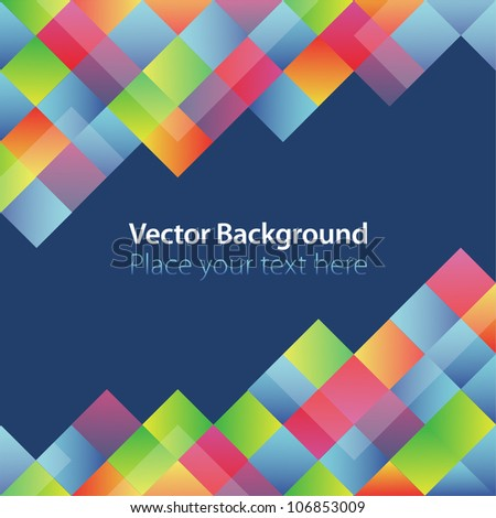 Vector abstract color background. Color squares