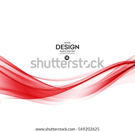 Vector Abstract color red wave design element