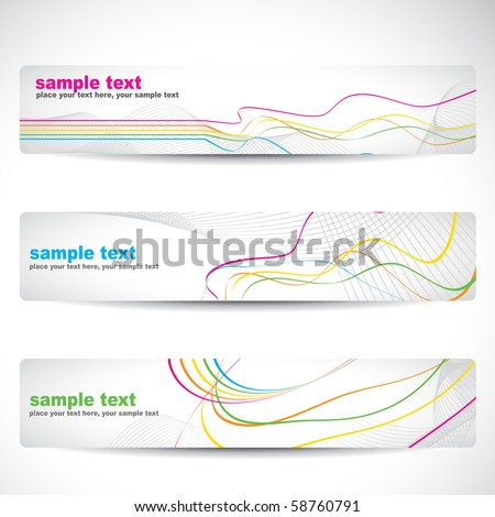 vector abstract colorful banner design