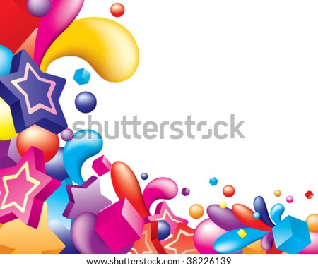 Vector. Abstract colorful design. Free space for your text