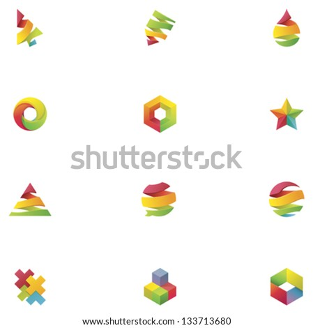 Vector abstract colorful elements