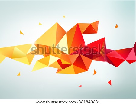 vector abstract colorful orange