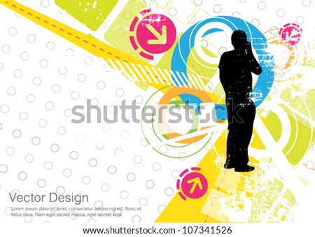 vector abstract communication design