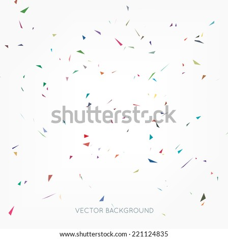 Vector abstract confetti background