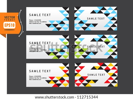 Vector abstract creative triangle business card template