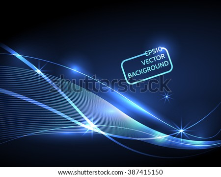 Vector Abstract curved lines background. Template design. stock photo