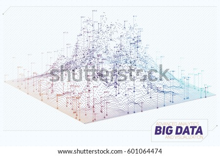 vector abstract 3d big data