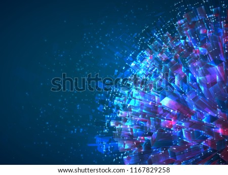 vector abstract 3d crystal a