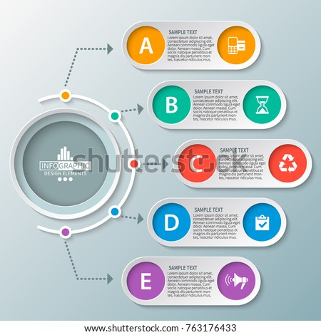 vector abstract 3d paper infographic elements.Business infographics.