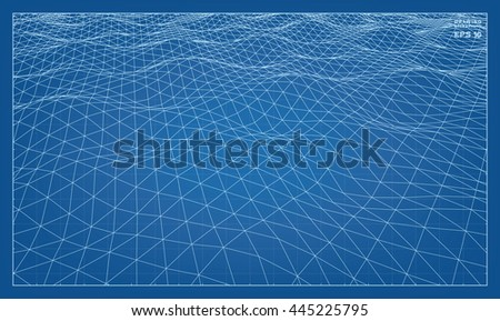 vector abstract 3d wave