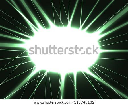 vector abstract dark background with laser flash, outburst